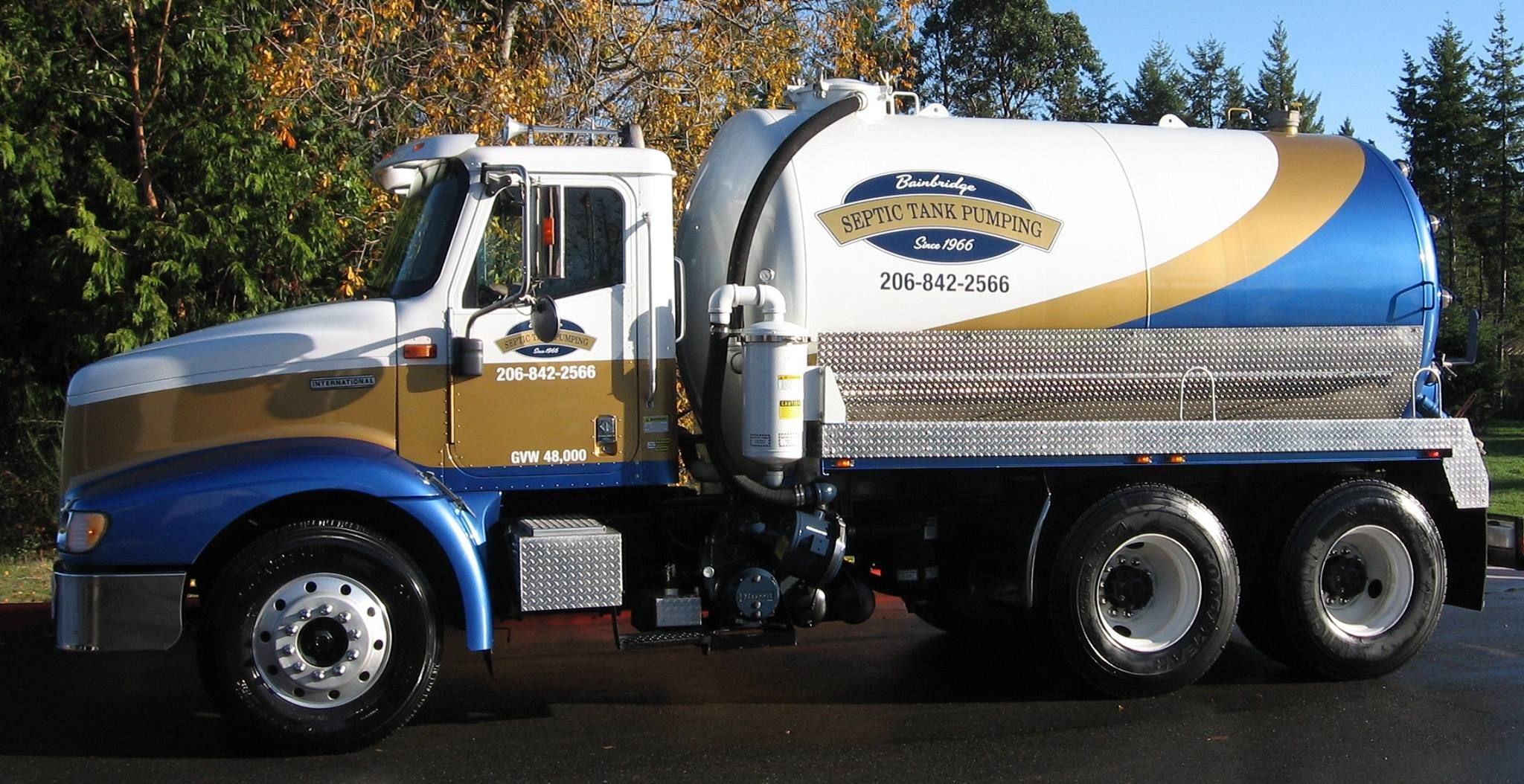 Contact bainbridge septic tank pumping for Kitsap septic