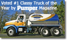 Bainbridge Septic Tank Pumping Voted #1 Classy Truck of the Year by Pumper Magazine